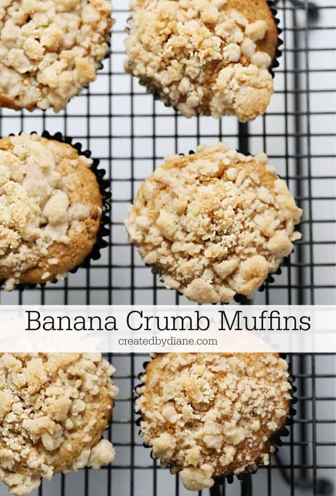 easy BANANA Crumb Muffins createdbydiane.com