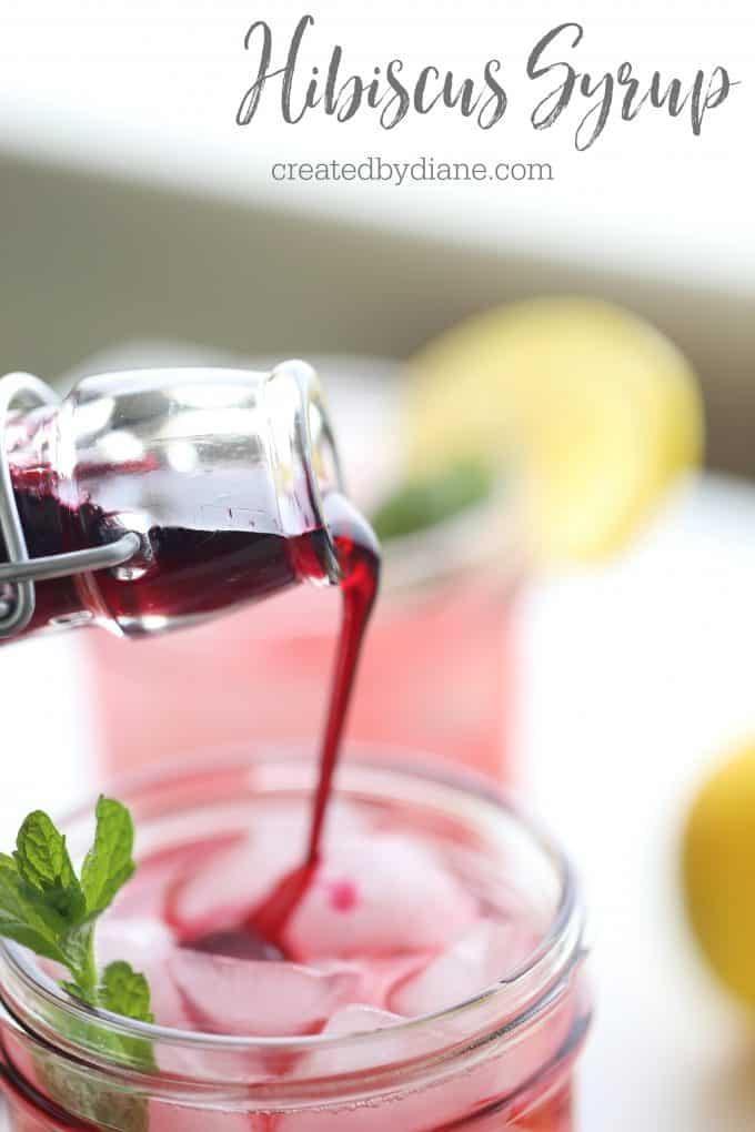 simple hibiscus syrup recipe createdbydiane.com