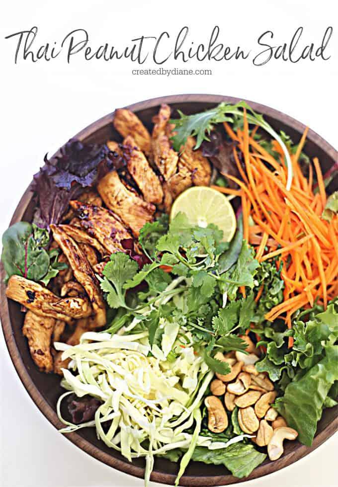 EASY thai peanut chicken salad recipe