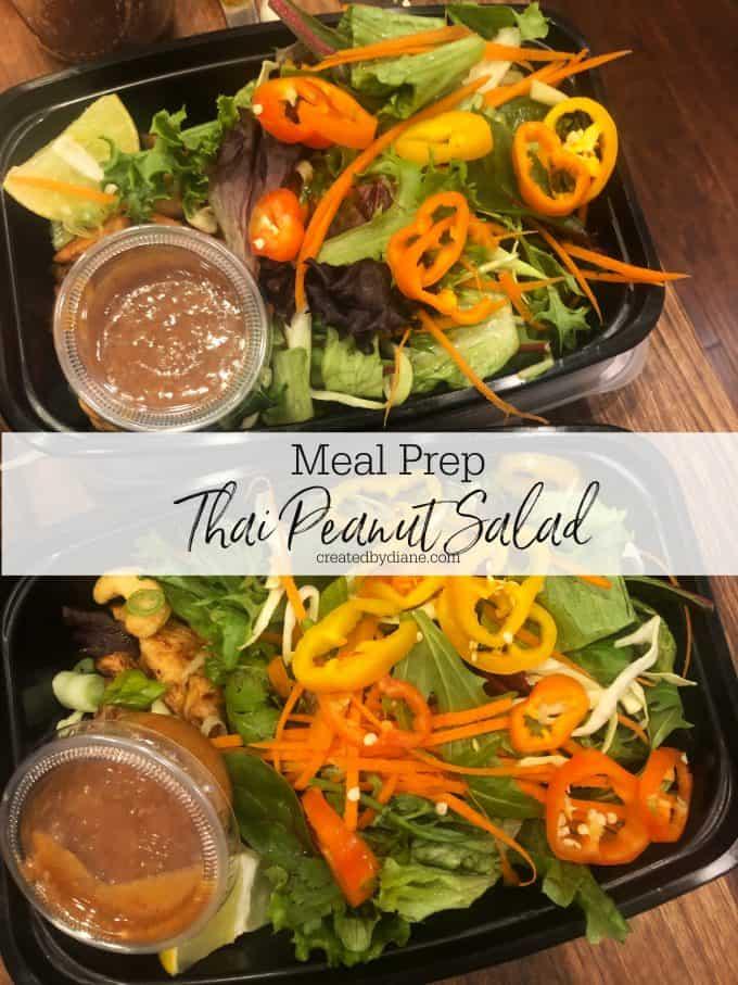 Meal Prep Thai Peanut Salad