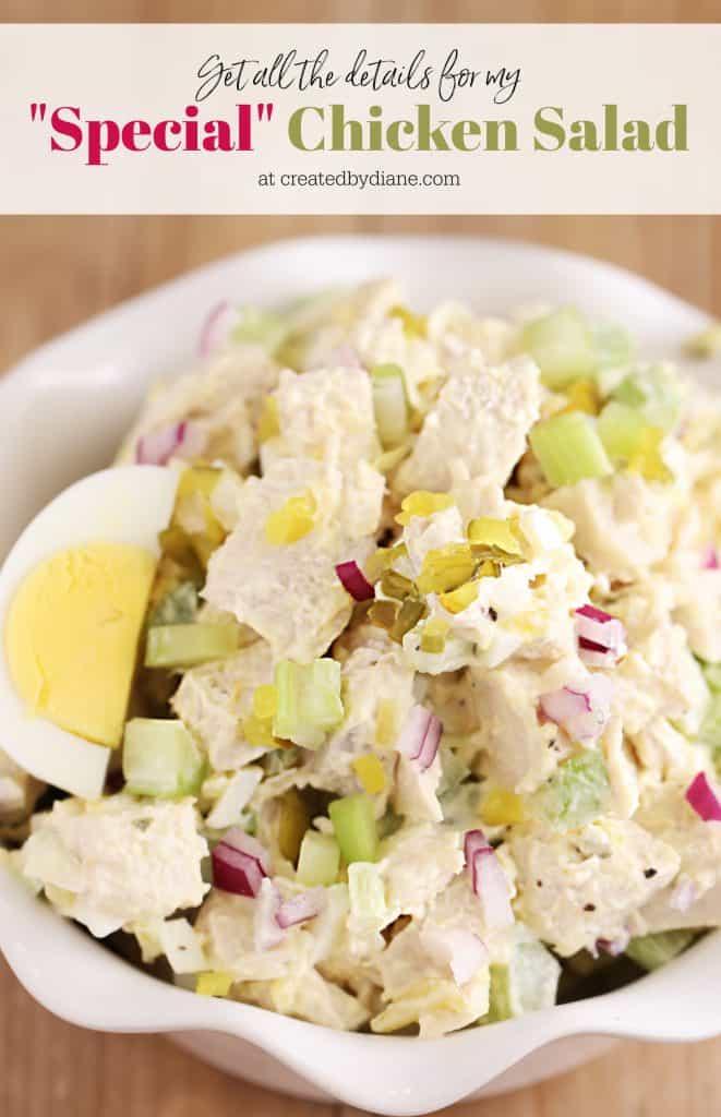 SPECIAL Chicken Salad Recipe Chick Fil A Copycat createdbydiane.com