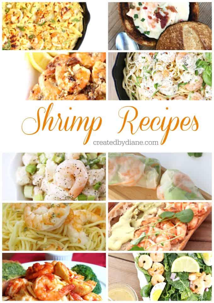 Shrimp Recipes from createdbydiane.com