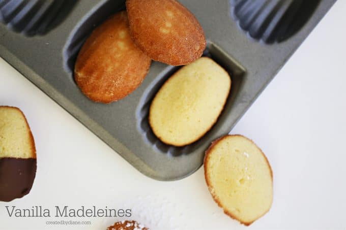 Vanilla Madeleine recipe from createdby-diane.com