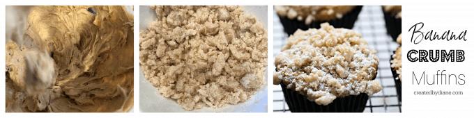 banana crumb muffins in the making createdbydiane.com