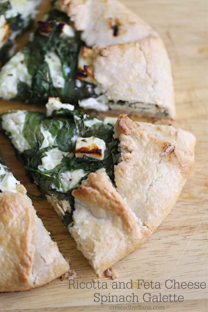 ricotta and feta cheese spinach galette createdbydiane.com