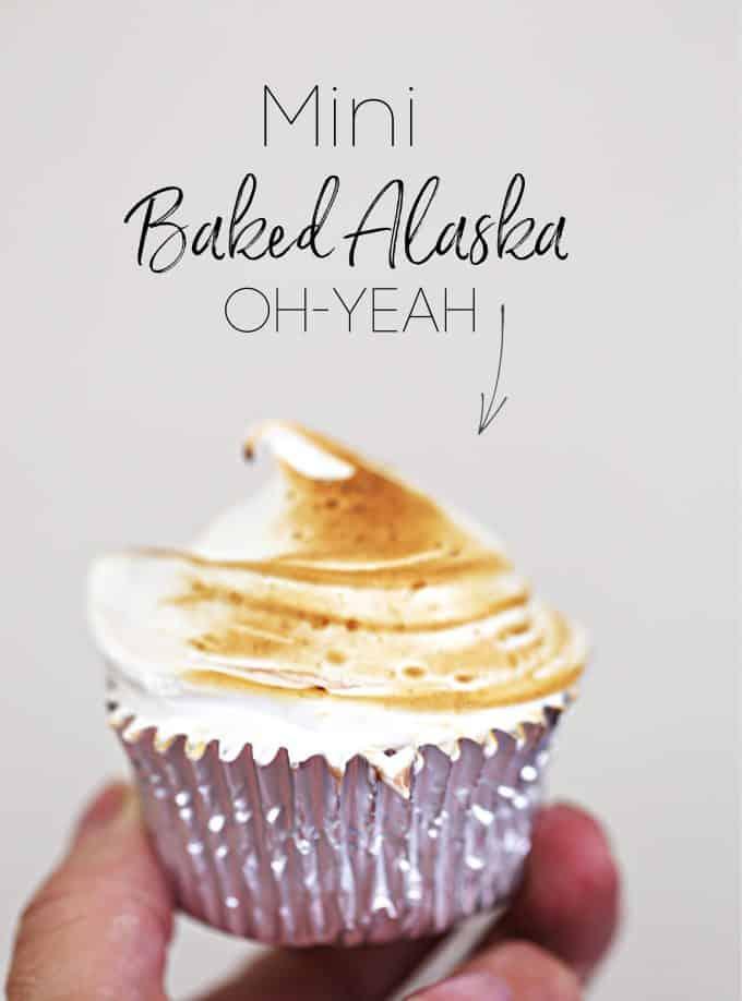 MINI BAKED ALASKA, perfect single serve size createdbydiane.com