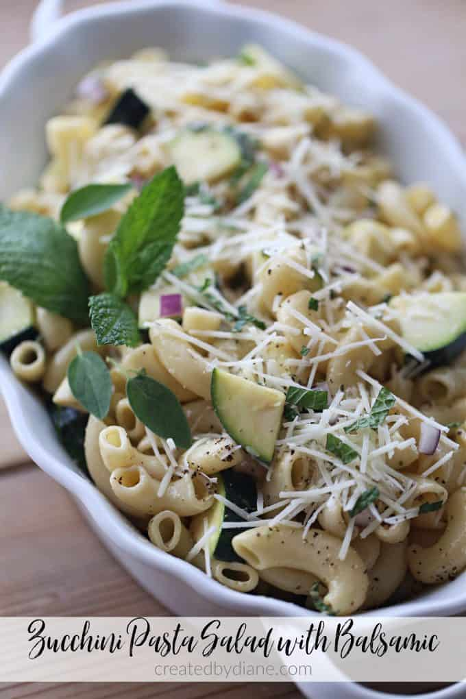 zucchini pasta salad with balsamic dressing