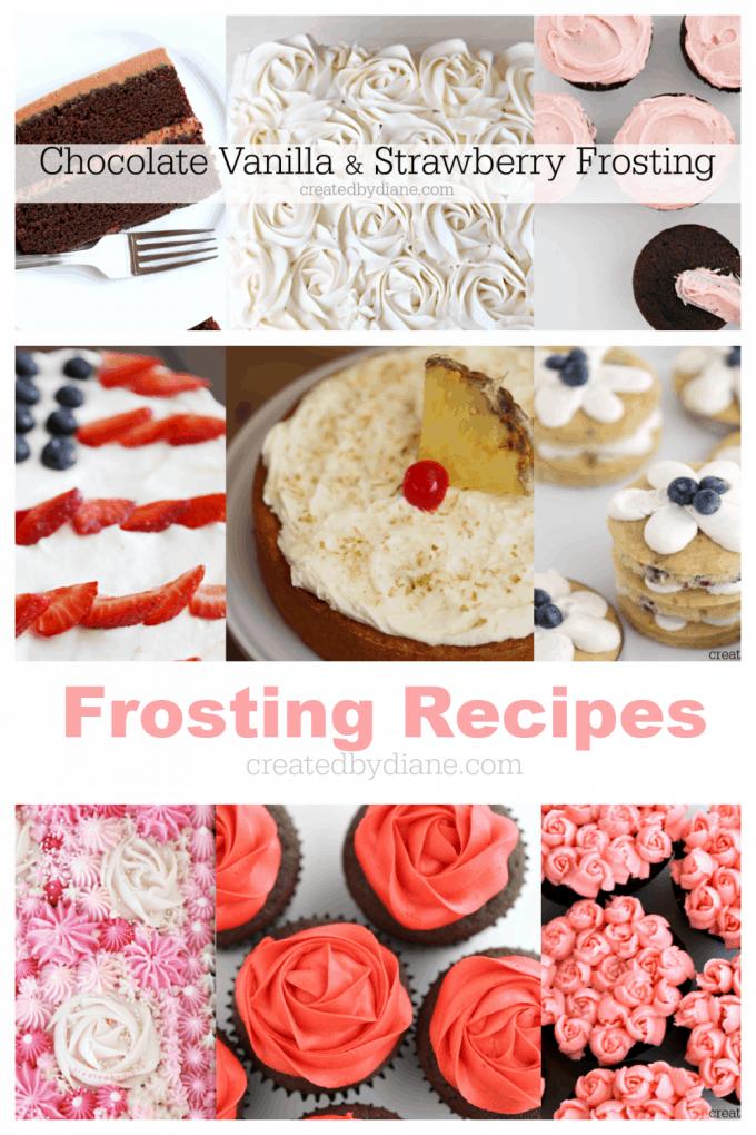 frosting recipes at createdbydiane.com